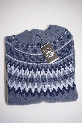 New Harley Of Scotland Noreasterly Wool Blend Multi Color Sweater