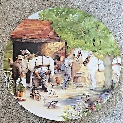 ROYAL DOULTON COLLECTOR PLATE - THE BLACKSMITH- Old Country Crafts - BOXED + COA