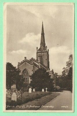 [16024] Worcestershire Sepia Postcard Parish Church St Andrews Ombersley