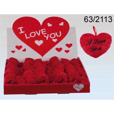I Love U Small Red Heart Cushion Valentines/Mothers Day Love Romantic Cute Gift