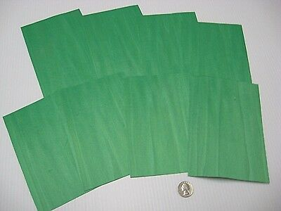 1 Lot Of 8pcs Dyed Light Green Raw Veneer Shorts, Lot #86