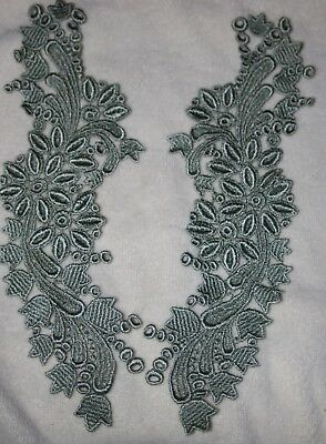 $1.50 Sage Green venise Peter Pan Collar sewing embroidered d15