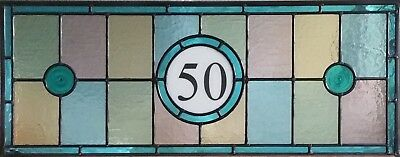 Victorian, Edwardian style Stained Glass Numbered Fanlights, handmade to order