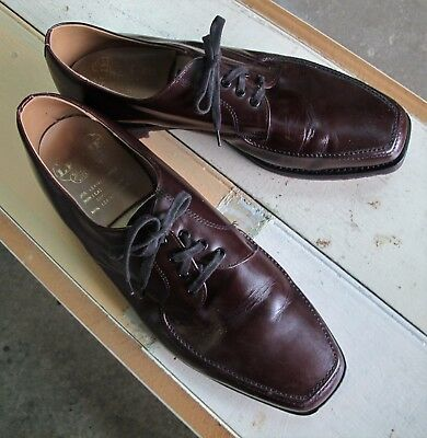 SHOES Brown LEATHER upper Vintage Dress Lace up Oxford Business Sz 9 Oxfords