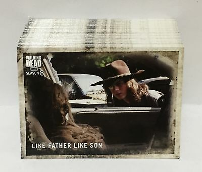 The Walking Dead Season 8 Part 1 (Topps 2018) Trading Card Set (100 Cards)