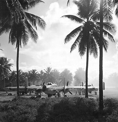 WW2  Photo WWII US B-25 Mitchell Bombers Pacific Theater  World War Two / 5331