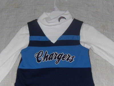 NFL LA Chargers Cheerleader Dress Infant Toddler Various Sizes L/S NWT
