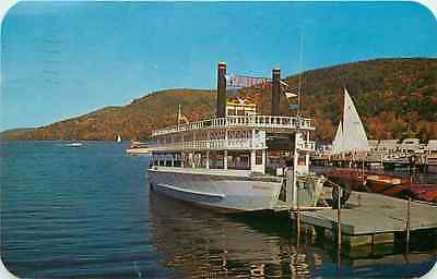 Postcard Lee Excursion Boat, Otsego Lake, Cooperstown, New York - used 1961