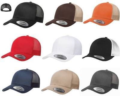 142e7ef4aa9 Yupoong Six-Panel Classic Trucker Hat Snapback Structured Curved Bill Cap  6606