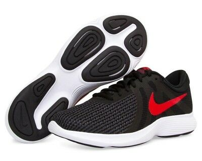 c8728a5c84f9a New In Box Nike Revolution 4 Running Shoes Mens Size 8 Black red Nib