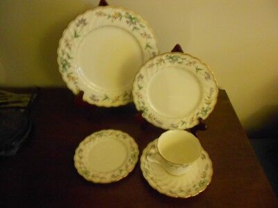 Noritake Brookhollow  5 Piece Place Setting New only displayed.Multi Available