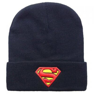 Cappello Berretto Cappellino Superman Nero Super Eroi Marvel Hero Dc Comics  Cap a5098a1cc4b4