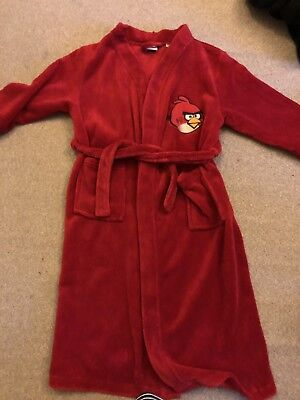 Boys 7-8 Years Red Angry Birds Dressing Gown