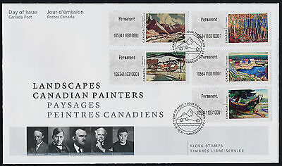 Canada Kiosk Stamps on FDC - Art, Landscapes, Canadian Painters
