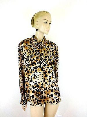 208199ec65c69 Starington For Saks Fifth Avenue Printed Silk Long Sleeve Buttons Shirt  Size 18