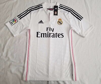 """2014 15 ADIDAS MENS Real Madrid Home Soccer Jersey """"BALE 11"""" LRG NWT ... 7f4925aff"""
