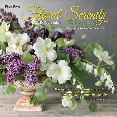 2019 Floral Serenity Wall Calendar, More Flowers by Brush Dance