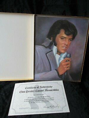 Elvis Presley Concert Photo Album with COA 1977 Over 50 pictures.