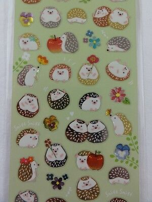 Hedgehog Sticker Sheet cute journal planner autumn fall nature pet dog gift girl