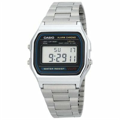 Casio A158W-1 unisex Classic Stainless Steel Water Resistant Digital Watch