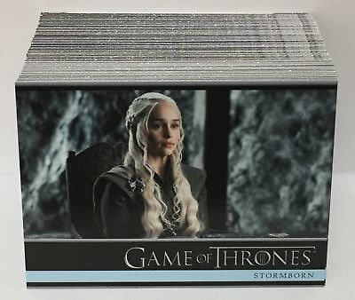 Game of Thrones Season 7 (2018) BASE Trading Card Set (81 Cards) / EMILIA CLARKE
