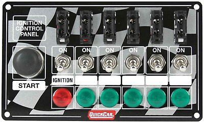 QuickCar 50-164 Ignition Panel Fused w/Start Button & Lights