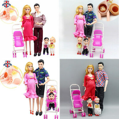Dolls Family Educational Real Pregnant Doll Happy Family for Barbie Gift Xams