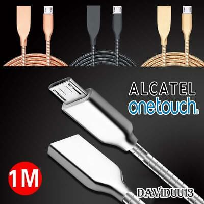 Metal Micro USB Data Sync Charging Charger Cable For Various Alcatel Phones