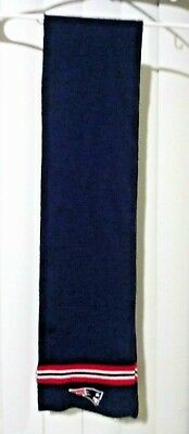 "New England Patriots Reebok Winter Knit Scarf SUPERBOWL Scarf NFL 55"" x 7"" O/S"