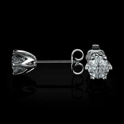 Cooperative 1.5 Carat Real Natural Diamond D Vs2 Round Cut Set In 14k White Gold Earrings Various Styles Jewelry & Watches Fine Jewelry