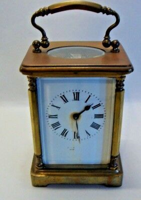 Late 19th century brass cased carriage clock