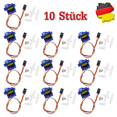 10x Micro RC Mini Servo SG90 9G für Helicopter Flugzeug Roboter boat Airplane DE