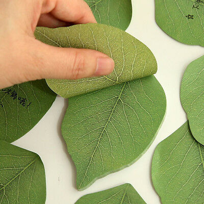 Green leaves Note Paper Creative Notebook Marker Sticker Memo Pad Sticky Notes