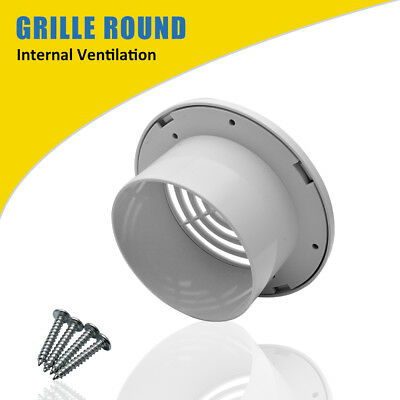 """4"""" 100mm Air Vent Grille Ventilation Ceiling Wall Mount Air Vent ABS Round New"""