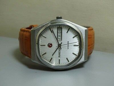 Vintage Rado Voyager Automatic Day Date Swiss Wrist Watch E763 OLD USED Antique