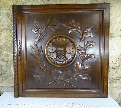 French Antique Walnut Carved Wood Doors/Panel -Man Face - Louis XVI style