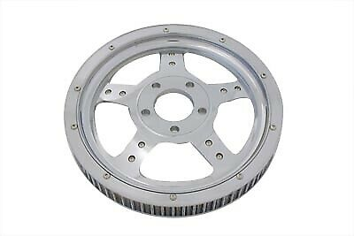 Rear Drive Pulley 61 Tooth Chrome fits Harley Davidson,V-Twin 20-0377