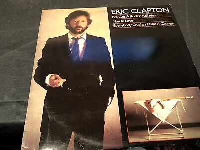 Eric Clapton ive got a rock and roll heart single 45 RPM