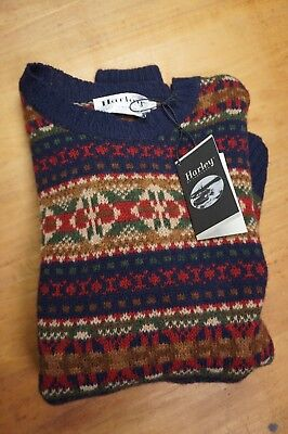 Nwt Harley Of Scotland Noreasterly Hand Made Wool Sweater Large Zip