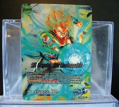 DRAGONBALL Super SS GOGETA The Unstoppable foil Promo Leader P-091 NM/M !!