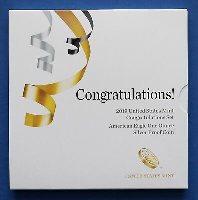 US - 2019 W US Mint Congratulations Set American Eagle Silver Proof Coin (19RF)