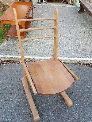 Vintage Solid Wooden Chapel Church Ministers Chair. Courier Service Available