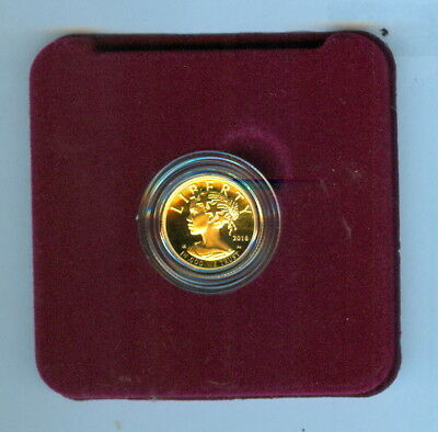 2018 TEN DOLLARS AMERICAN LIBERTY 1/10 oz. GOLD PROOF COIN