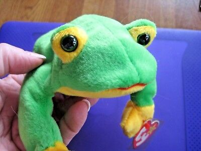 TY Beanie Babies Plush Smoochy The Frog 1997 Retired NEW w/ Tags *