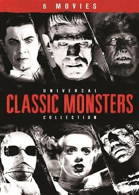 UNIVERSAL CLASSIC MONSTERS COLLECTION DVD 6 Films Frankenstein Dracula Mummy