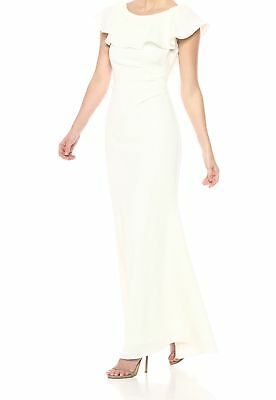 4d146081308ee Jessica Howard NEW White Women s Size 16 Gown Lace Ruffle Dress  149-  346