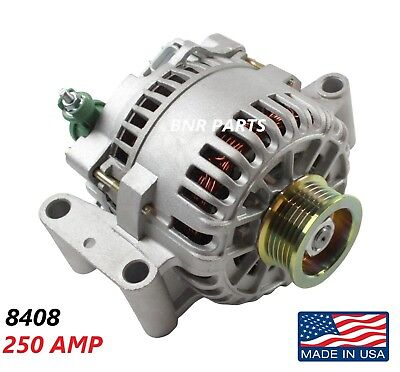250 AMP 8408 Alternator Ford Mercury High Output Performance HD NEW USA