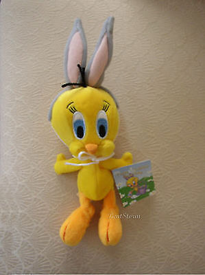 Tweety Bird Bunny Ears Easter Basket Bean Bag Warner Bros Looney Tunes  Plush