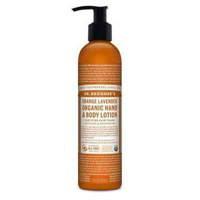 Dr. Bronner's Organic Hand & Body Lotion, Orange Lavender Eco Environmentally Fr