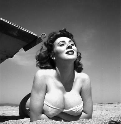WW2 Photo WWII  World War Two Girl in  Bathing Suit Pinup Meg Myles  / 1654
